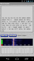 Screenshot of Morse Decoder for Ham Radio