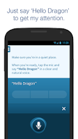 Screenshot of Dragon Mobile Assistant
