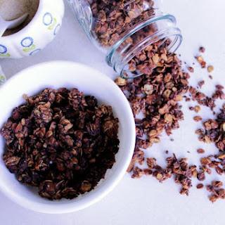 Coffee Granola With Chocolate And Cashews