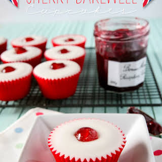 Cherry Bakewell Cupcakes.