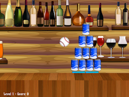 Screenshot of Beer Can Knockdown Strike One