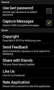 CryptMe (encrypt & send sms)- screenshot thumbnail