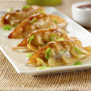 Teriyaki Pot Stickers.