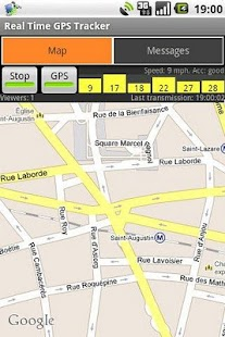 Real-Time GPS Tracker Screenshot