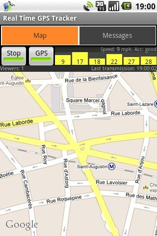 Real Time GPS Tracker - screenshot