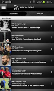 UEFA.com full edition - screenshot thumbnail