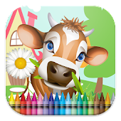 On the Farm Coloring Book