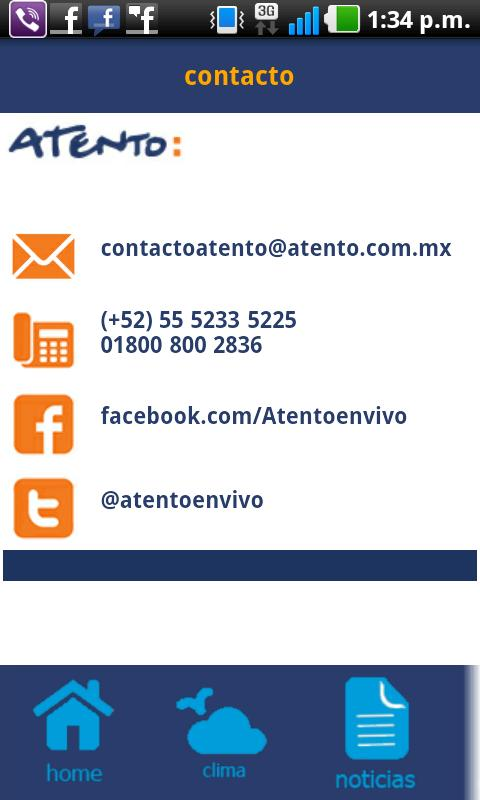 Atento - screenshot