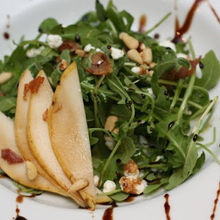 Pear and Goat Cheese Salad with Balsamic Reduction
