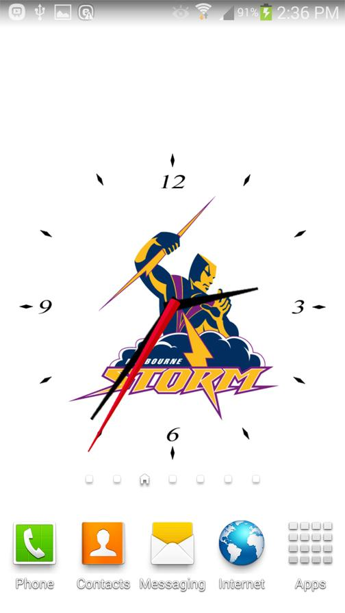 Melbourne Storm Analog Clock- screenshot