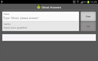 Screenshot of Ghost Answers