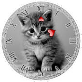 Kitty Clock Widget