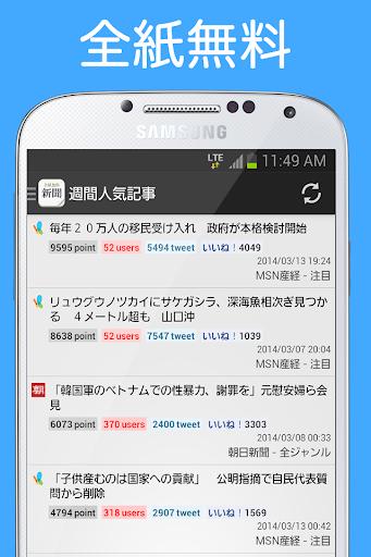 新聞_全紙無料~新聞が無料で読める!