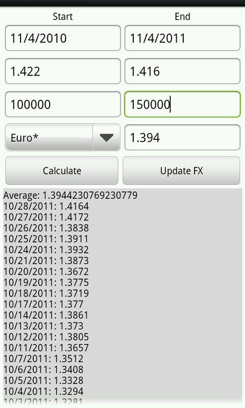 Currency Effect Calculator- screenshot