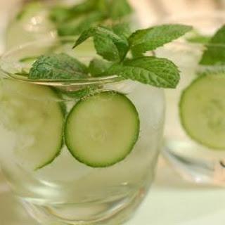 Cucumber, Mint, and Basil Soda.