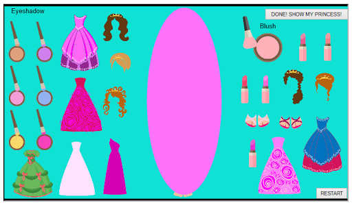 Dress Up and Style a Princess