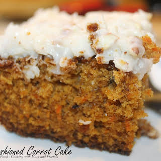 Carrot Cake with Cream Cheese/Pecan Frosting.