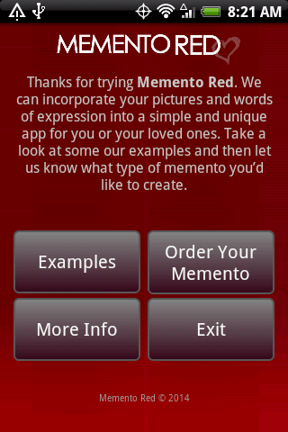 Memento Red