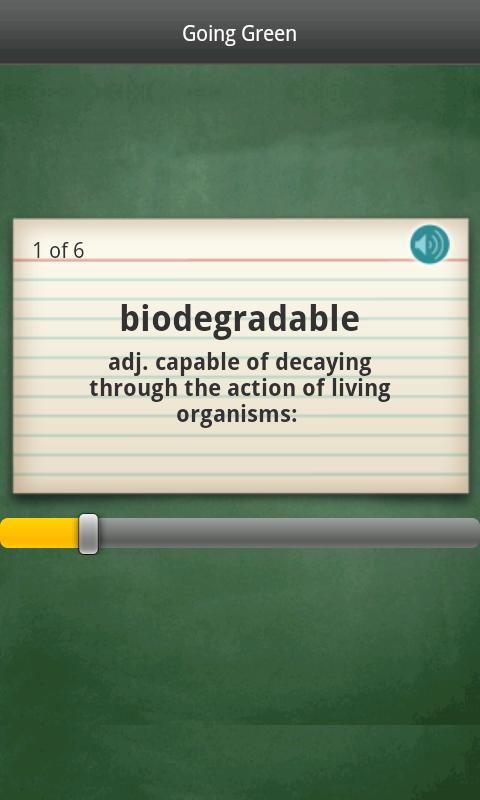 Dictionary.com Flashcards - screenshot