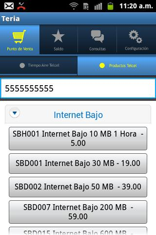 Teria Tiempo Aire Telcel - screenshot