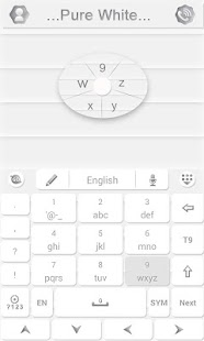 Pure White GO Keyboard Theme- screenshot thumbnail