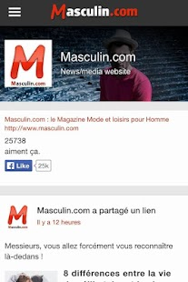Masculin.com- screenshot thumbnail