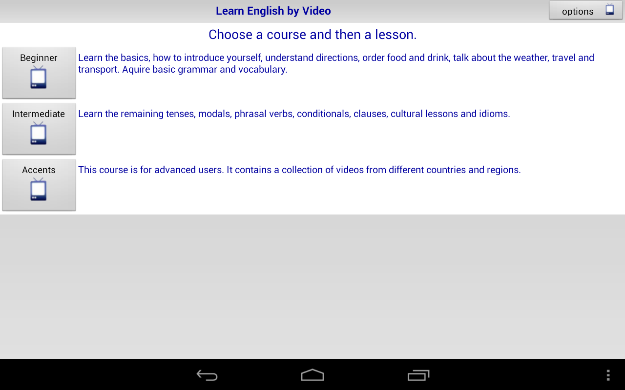 Learn English by Video - screenshot