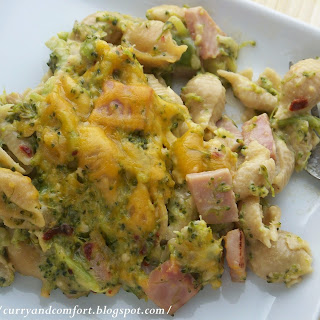 Broccoli and Ham Macaroni and Cheese