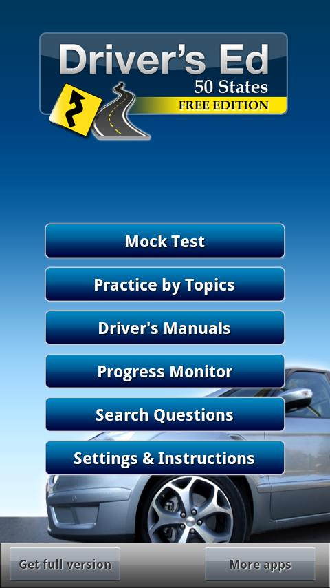 Drivers Ed - DMV Permit Test- screenshot