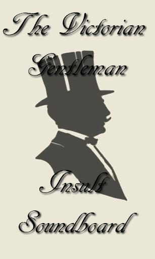 Victorian Gentleman Insults