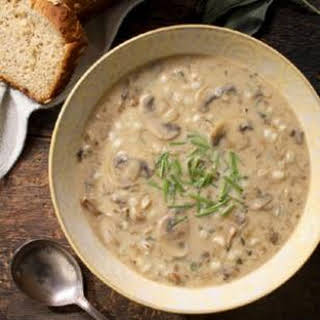 Cream of Mushroom & Barley Soup.