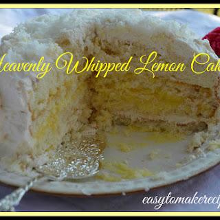 Heavenly Whipped Lemon Cake.