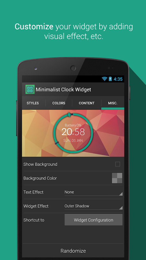 Minimalist Clock Widget- screenshot