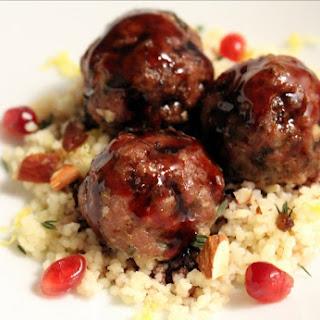 Mediterranean Lamb Meatballs with Pomegranate Glaze.