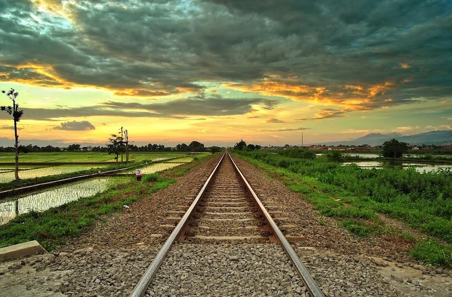 by Deden Mulyadi - Transportation Railway Tracks