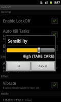 Screenshot of Shake To Lock Screen