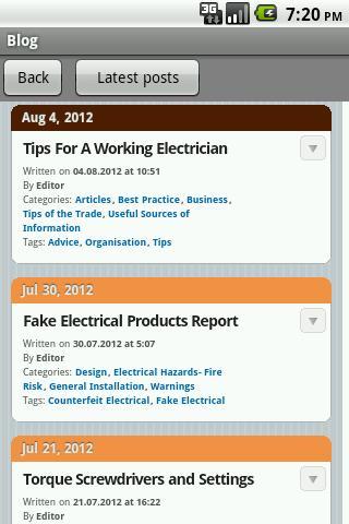 Electrician's Blog- screenshot