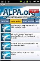 Screenshot of ALPA Mobile