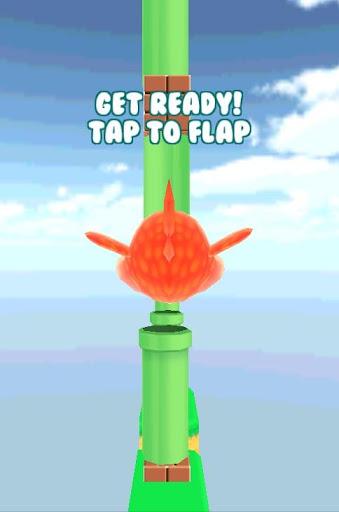 Flopping 3d Bird