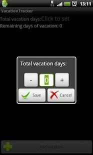 vacation day tracker