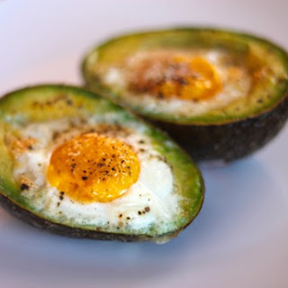 Baked Egg in Avocado.
