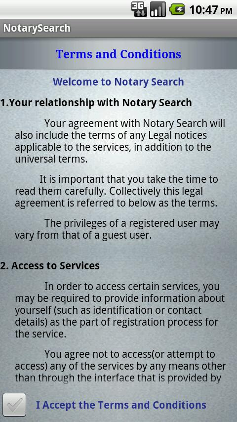 Notary Search - screenshot
