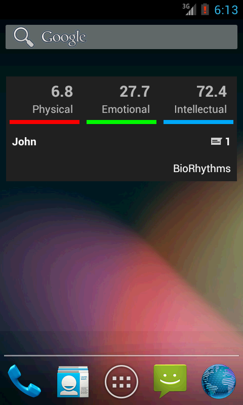 BioRhythms- screenshot