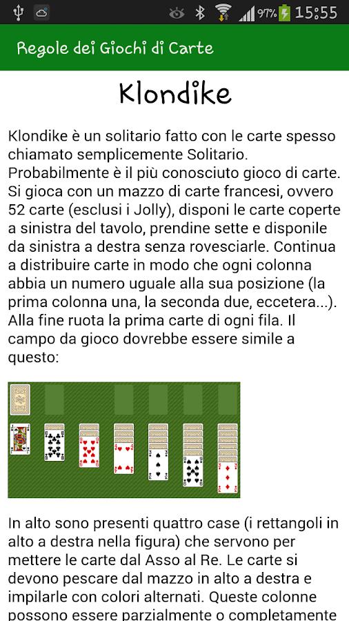 Regole dei Giochi di Carte- screenshot