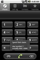 Screenshot of Speed Dial classic