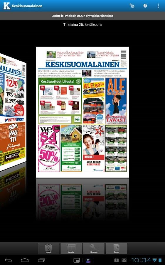Keskisuomalainen- screenshot