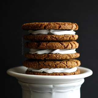 Gluten Free Vegan Gingersnap Sandwich Cookies