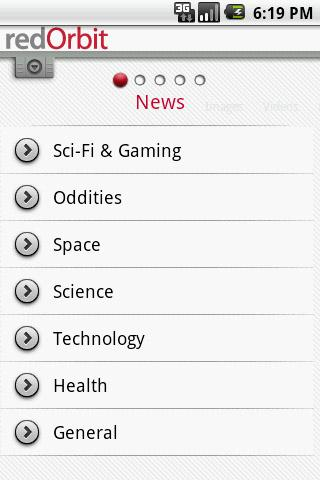 redOrbit Mobile - screenshot