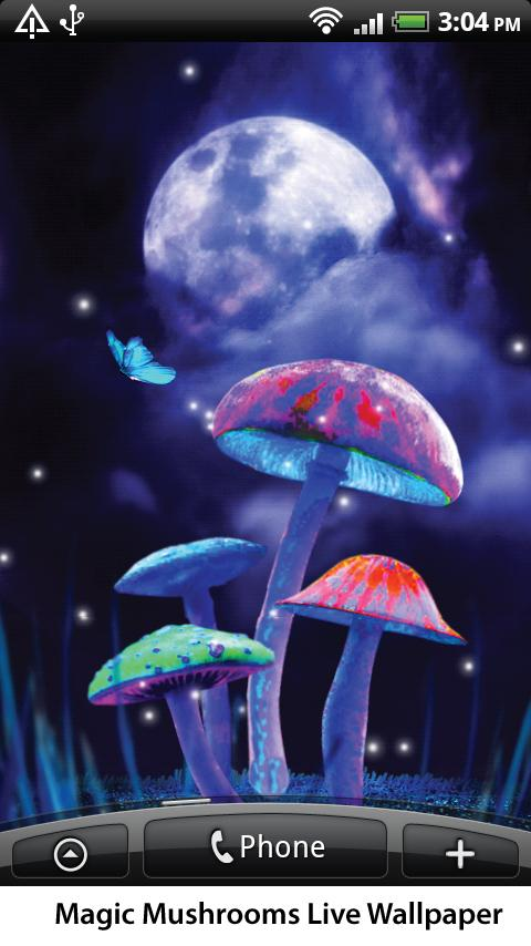 Magic Mushrooms Live Wallpaper - screenshot
