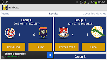 Screenshot of Gold Cup 2013